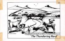cow000112 - Thundering Herd Hoke Denetsosie, Navajo Indian Artist Postcard Post Card