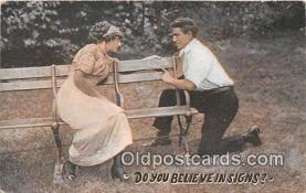 cps001227 - Couples Romance Vintage Postcard