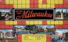 crs001035 - Milwaukee Cross Word, Crossword Puzzle Postcard Post Card