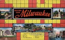 crs001044 - Milwaukee Cross Word, Crossword Puzzle Postcard Post Card