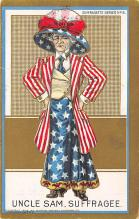 ctg000463 - Uncle Sam Suffragee Womans Rights to Vote Suffragette Vintage Postcard