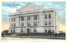 cth001004 - Creek County Court House, Sapulpa, Okla, Oklahoma, USA Court House, Court Houses Postcard Post Card