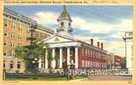 Memorial Sq. Chambersburg, PA USA