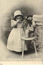 cwd000010 - Children, Child with Doll Postcard Post Card