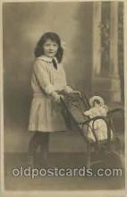 cwd000011 - Children, Child with Doll Postcard Post Card