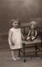 cwd000015 - Children, Child with Doll Postcard Post Card