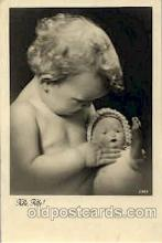 cwd000022 - Children, Child with Doll Postcard Post Card