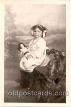 cwd001021 - Child, Children With Doll Postcard Post Card