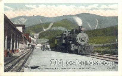 Trains Ascending, White Mountains, NH, USA