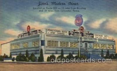 DNR001017 - Zinn's Modern Diner, Route 222, 12 miles from Reading and 18 miles from Lancaster, Pennsylvania