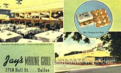 DNR001045 - Jay's Marine Grill, Dallas, Texas, USA Postcard Post Card