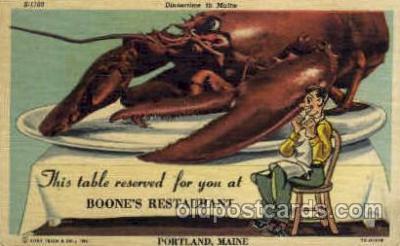 Boones Restaurant, Portland, Maine, USA