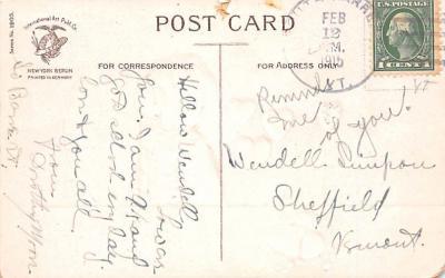 dam002009 - Valentines Day Post Card Old Vintage Antique Postcard  back
