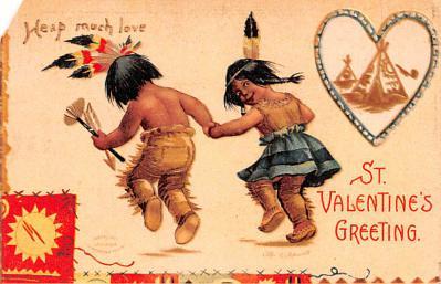 dam002011 - Valentines Day Post Card Old Vintage Antique Postcard