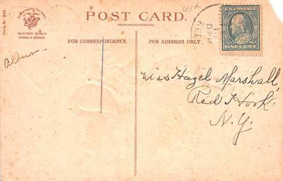 dam002011 - Valentines Day Post Card Old Vintage Antique Postcard  back