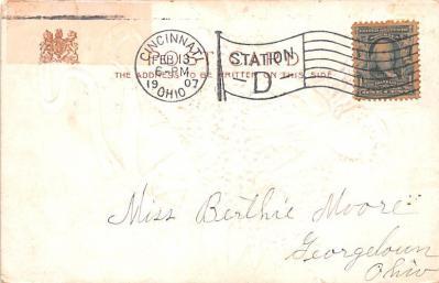 dam002025 - Valentines Day Post Card Old Vintage Antique Postcard  back