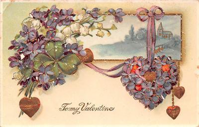 dam002033 - Valentines Day Post Card Old Vintage Antique Postcard