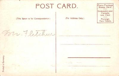dam002033 - Valentines Day Post Card Old Vintage Antique Postcard  back