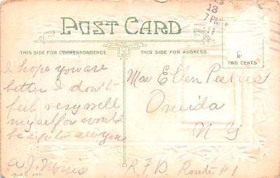 dam002037 - Valentines Day Post Card Old Vintage Antique Postcard  back