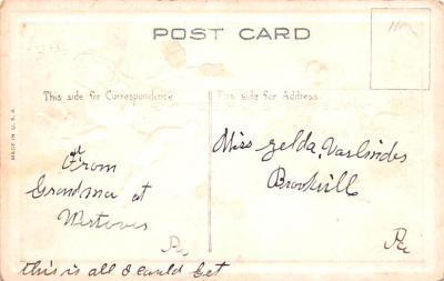 dam002051 - Valentines Day Post Card Old Vintage Antique Postcard  back