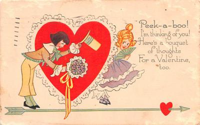dam002071 - Valentines Day Post Card Old Vintage Antique Postcard