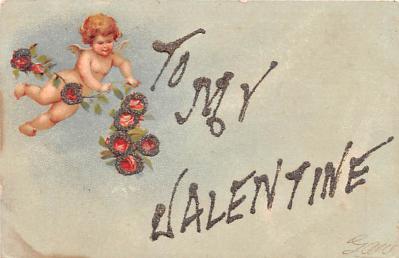 dam002073 - Valentines Day Post Card Old Vintage Antique Postcard