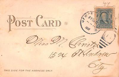dam002073 - Valentines Day Post Card Old Vintage Antique Postcard  back