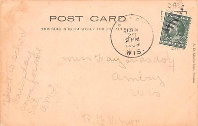 dam002075 - Valentines Day Post Card Old Vintage Antique Postcard  back
