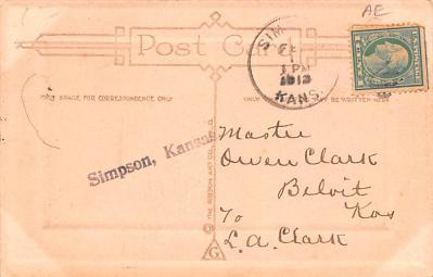 dam002077 - Valentines Day Post Card Old Vintage Antique Postcard  back