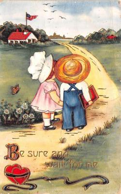 dam002109 - Valentines Day Post Card Old Vintage Antique Postcard