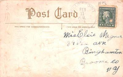 dam002109 - Valentines Day Post Card Old Vintage Antique Postcard  back