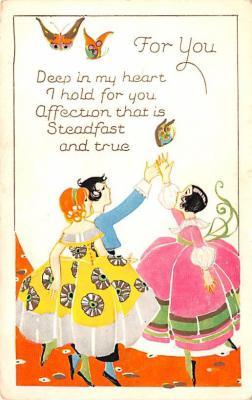 dam002119 - Valentines Day Post Card Old Vintage Antique Postcard