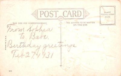 dam002119 - Valentines Day Post Card Old Vintage Antique Postcard  back