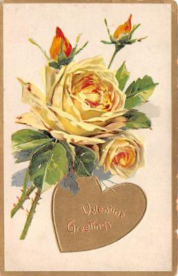 dam002127 - Valentines Day Post Card Old Vintage Antique Postcard