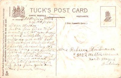 dam002127 - Valentines Day Post Card Old Vintage Antique Postcard  back