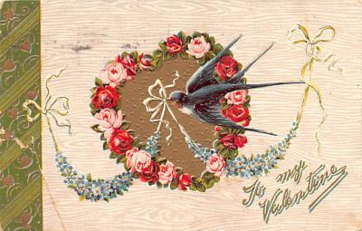dam002139 - Valentines Day Post Card Old Vintage Antique Postcard
