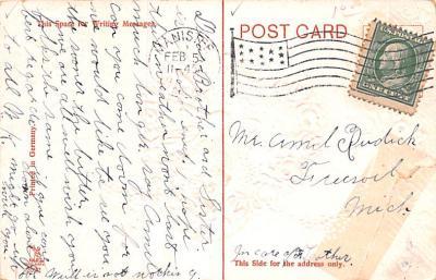 dam002139 - Valentines Day Post Card Old Vintage Antique Postcard  back