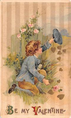 dam002317 - Valentines Day Post Card Old Vintage Antique Postcard