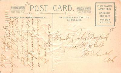 dam002317 - Valentines Day Post Card Old Vintage Antique Postcard  back