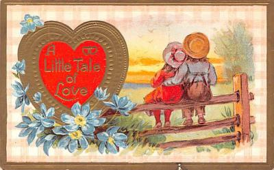 dam002335 - Valentines Day Post Card Old Vintage Antique Postcard