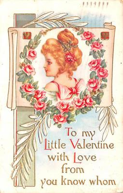 dam002367 - Valentines Day Post Card Old Vintage Antique Postcard