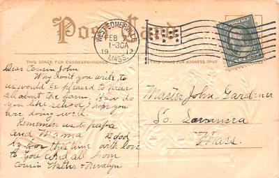 dam002367 - Valentines Day Post Card Old Vintage Antique Postcard  back