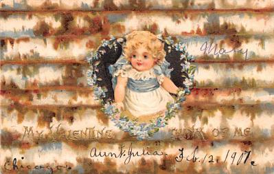 dam002369 - Valentines Day Post Card Old Vintage Antique Postcard