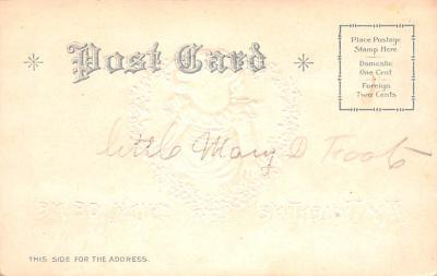 dam002369 - Valentines Day Post Card Old Vintage Antique Postcard  back
