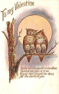 dam002379 - Valentines Day Post Card Old Vintage Antique Postcard