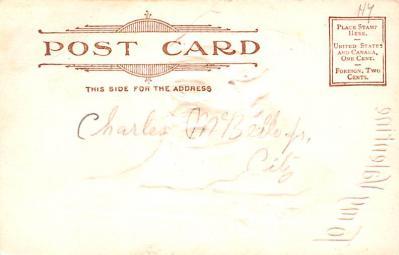 dam002379 - Valentines Day Post Card Old Vintage Antique Postcard  back