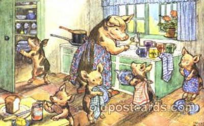 dan002009 - Artist Molly Brett Dressed Animal Postcard Post Card