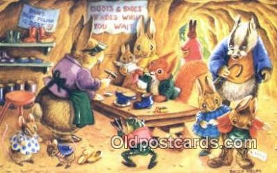 dan002214 - Racey Helps Post Card, Artist Signed Post Card Old Vintage Antique, PK 373