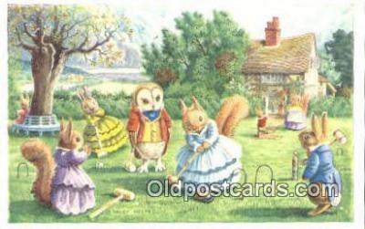dan002236 - Racey Helps Post Card, Artist Signed Post Card Old Vintage Antique, PK 235