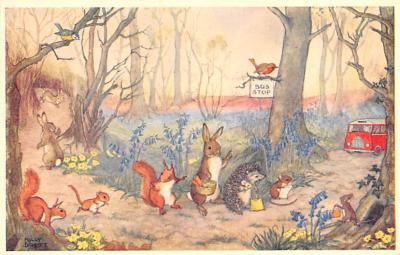 dan002388 - Dressed Animals Post Card